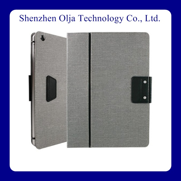 new design book style smart cover pu leather 11.6 inch tablet case stand
