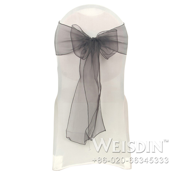 WEISDIN durable high quality cheap wedding chair cover and organza sash