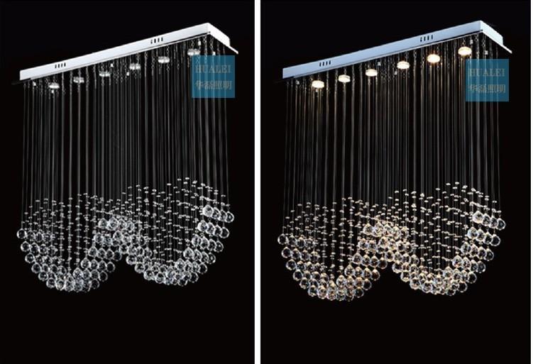 Купить Двойной форме сердца современная хрустальная люстра потолочный светильник кулон свет для лестницы, Sy3051 / 4L L800 * W200 * H800MM