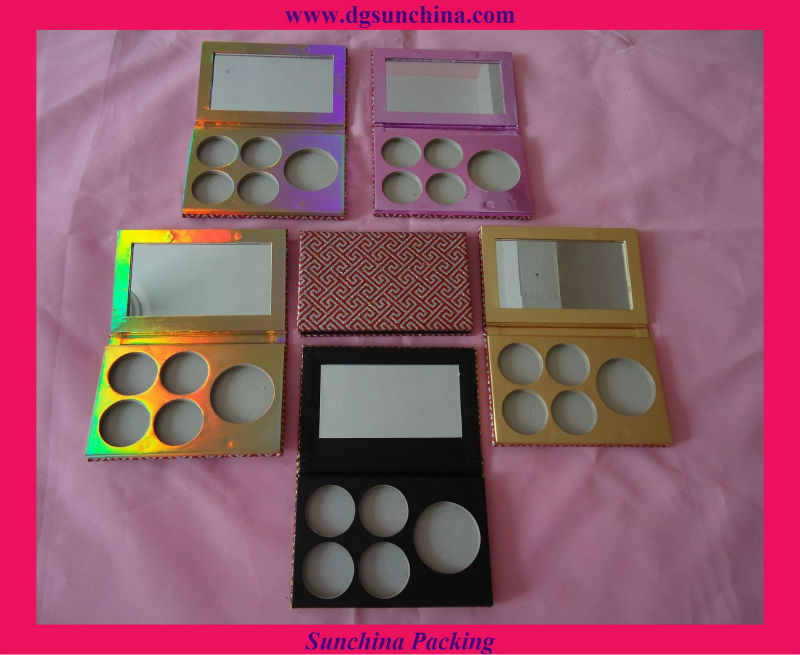 Pretty Paper Empty Magnetic Eyeshadow Palette for Cosmetic Packaging