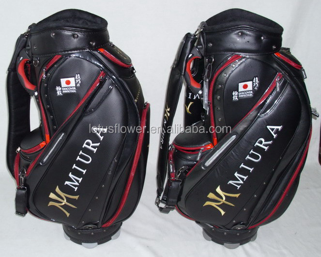 2015 Hot Sale Luxury PU Material Golf Travel Bag