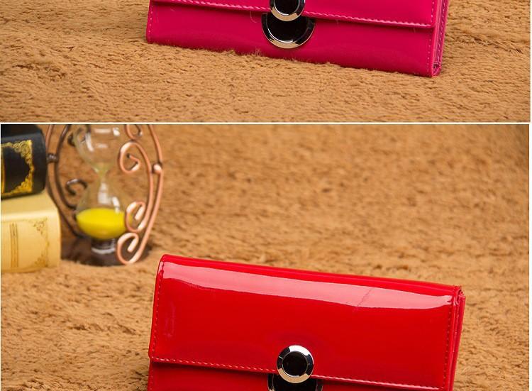 новые яркие кожи pu кожа женщин бумажник моды пряжки конфеты длительного сцепления мобильных сумка изменение цвета кошелек кошельки леди высокого качества