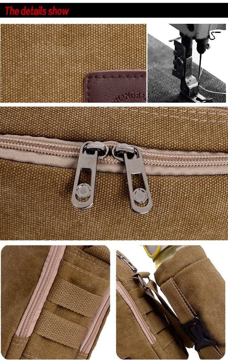 New 2014 Men's Canvas Tactical Bags Pure Cotton Solid Travel Clutch Sh
