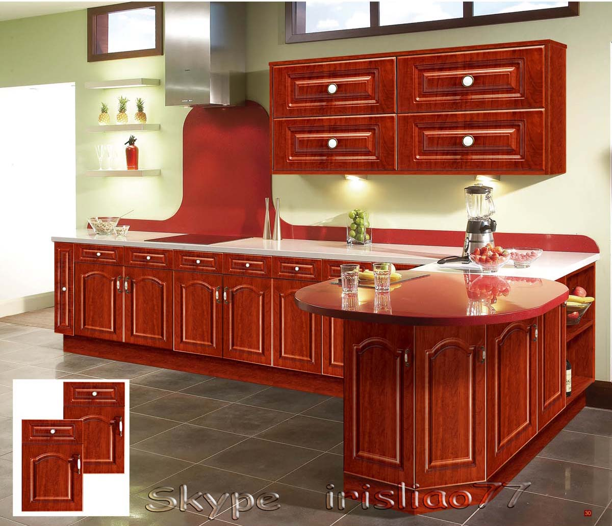 armário de cozinha em madeira maciça Armário de cozinha Madeira  #7E2817 1200x1032
