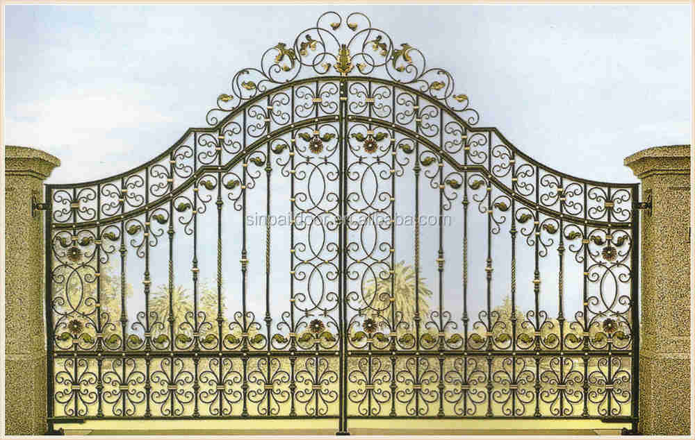 modern stainless steel main entrance gate door design for