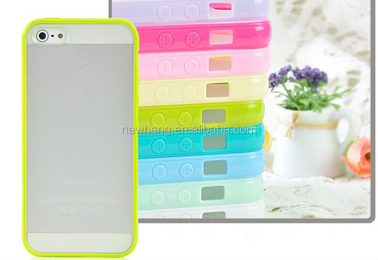 TPU+PC/Silicon Bumper case for iphone 5c, for iphone Silicon case, for iphone 5 bumper