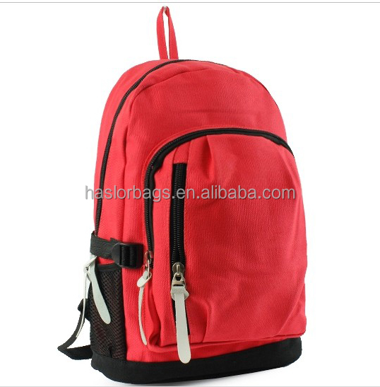 2016 Wholesale School Canvas Backpack for Teenager China Manufacture