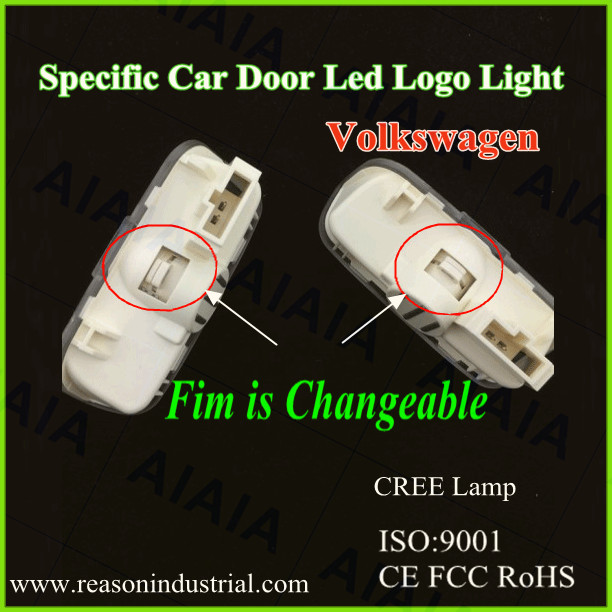 2014 Popular Factory Supplier No drill led car door projector logo light/Ghost shadow logo light car parts apply to vw