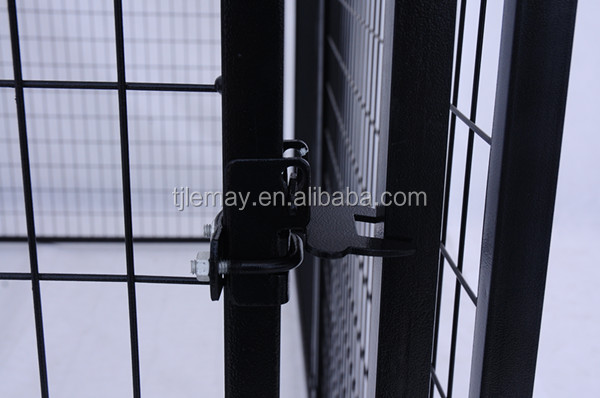 1.5mx3mx1.8m Great quality powder coated large outdoor black pet exercise pen