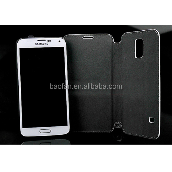 Newest blank sublimation leather flip case for Samsung S5