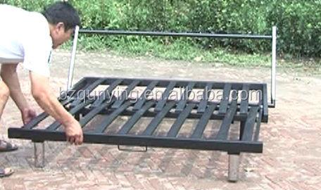 New Design Metal Slat Sofa Bed Replacement Steel Frame - Buy Steel ...