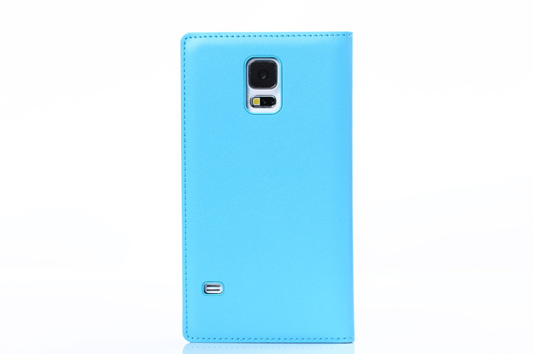 Window Smart view leather flip cover case for samsung galaxy s5 phone case
