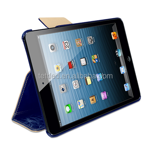 TETDED Premium Leather Case for Apple iPad mini with Retina display -- Bellac (Hercules : Blueberry/Blue SK)