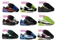 мужчины кроссовки бренда сетка воздуха + кожа верхних Макс единственным sneaker Спорт обувь 90 размер 40-45