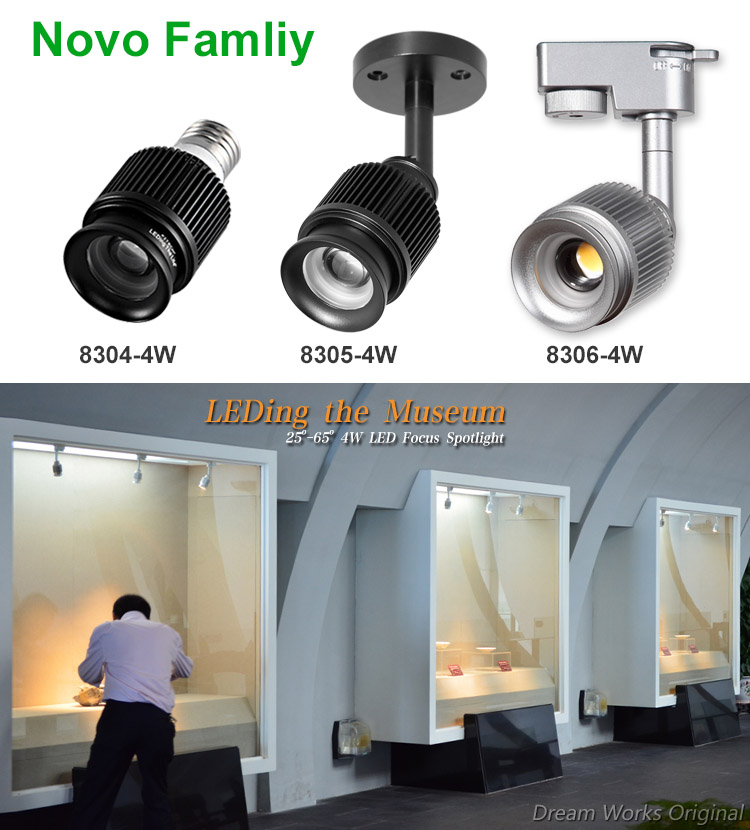 4w sharp cob focusable dimmable gallery led track lighting for novo aloadofball Gallery