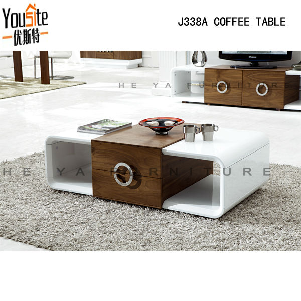 Fancy design high gloss lcd wooden coffee table view coffee table yousite product details from Coffee table tv stand set
