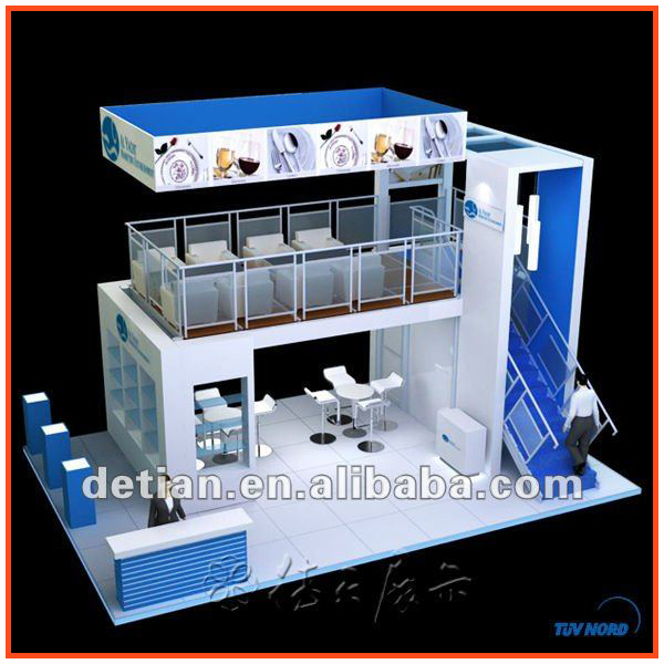 Exhibition Stall Rent : Detian double deck booth two story stand