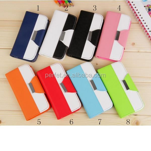 Flip case for iphone 5s, wallet case for iphone 5s, leather case for iphone 5(PT-I5L292)