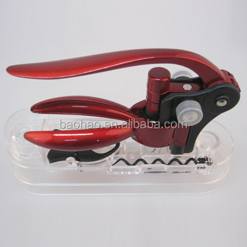 Antique brass Zinc alloy and Aluminum Champagne wine corkscrew and Red wine bottle opener set with gift box