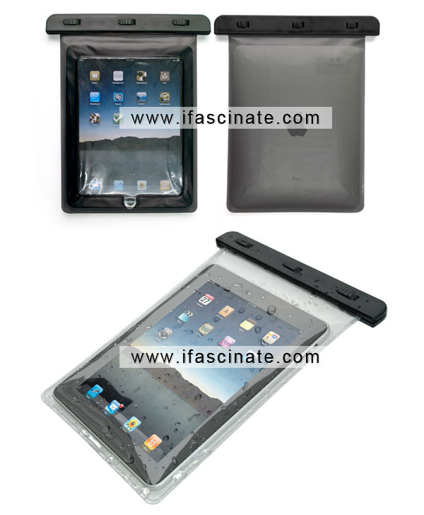 2014 smart waterproof bag for ipad 2 case with headphone