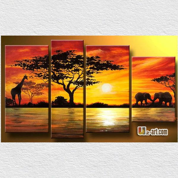 canvas panelen kunst afrikaanse dierlijke olie schilderij voor, Deco ideeën