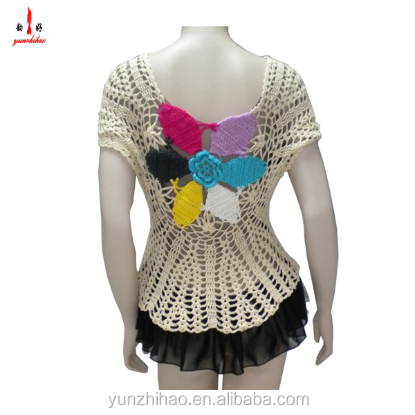 2014 fashion casual crochet women sweater dress