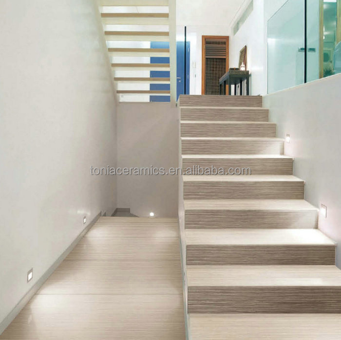 Tonia slim tile ultra thin wooden finish step tiles stair for Carrelage slim tile