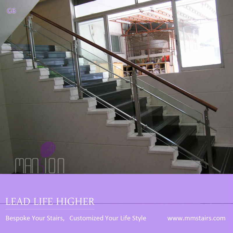 Stainless steel tempered glass railing system