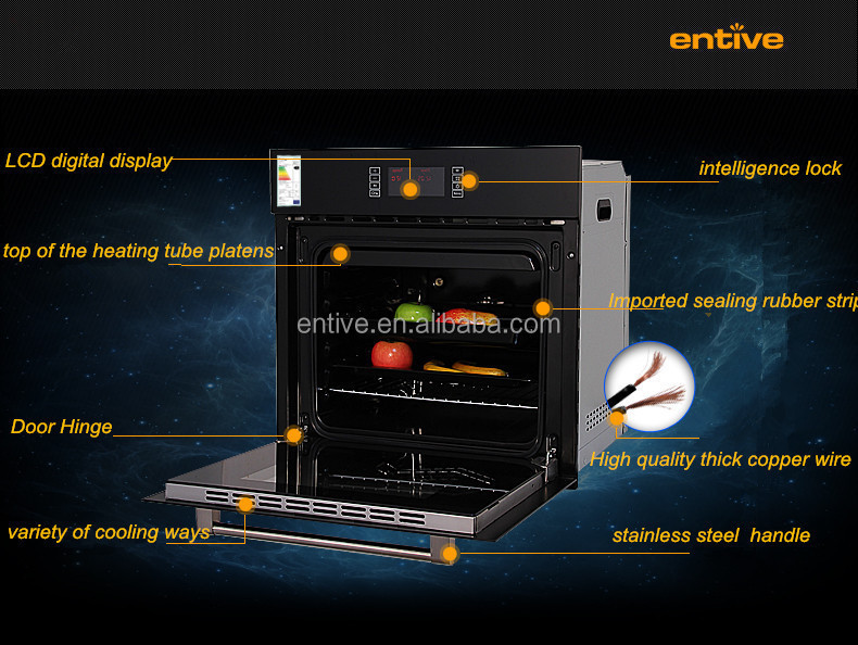 built in Gas&Electric oven/Glass tempered/CE/60cm