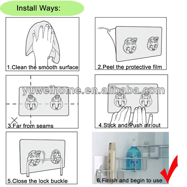 중국 제조업체 마법 끈적 걸이 욕실 액세서리 플라스틱 비누 ...