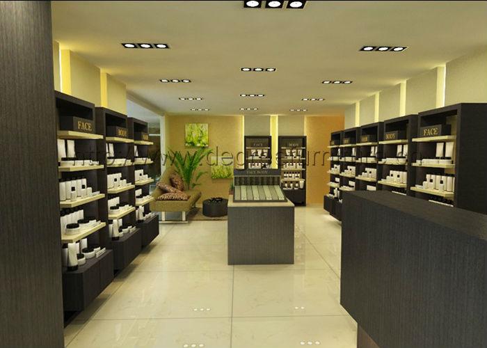 Unique modern retail cosmetic shop showroom interior design buy showroom interior design for Modern showroom exterior design