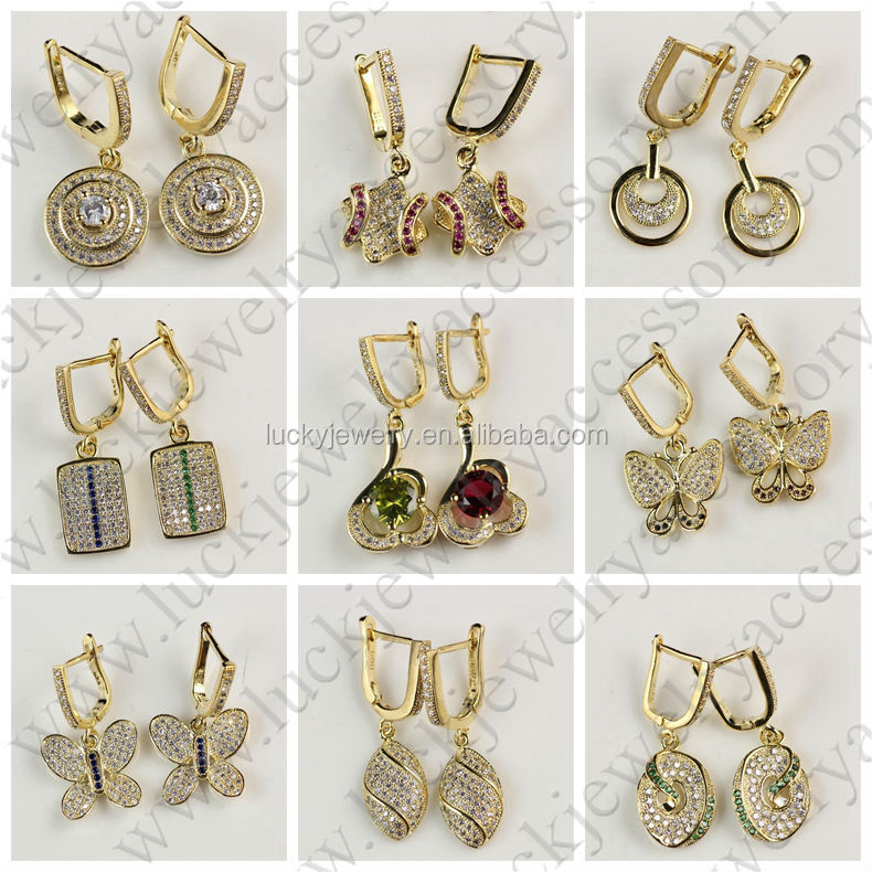 Gold Earrings Tops Designs - ma
