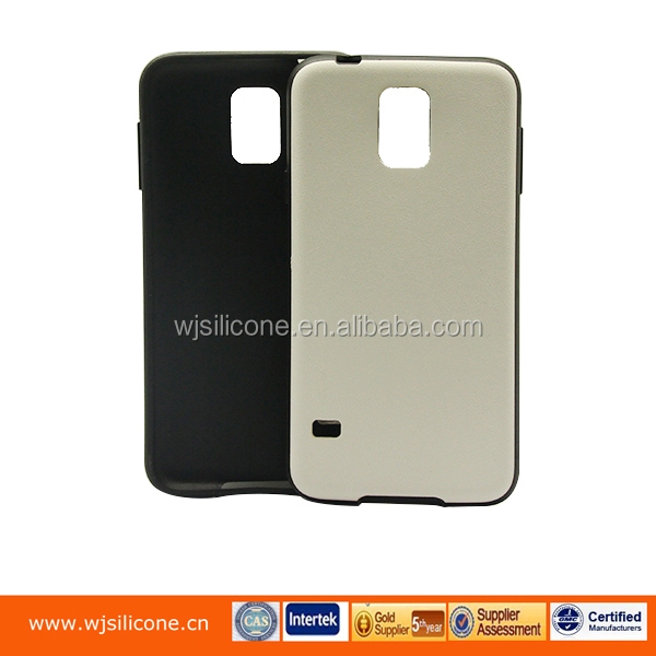 IMD soft TPU and PU leather case from factory in China white PU case for Samsung S5