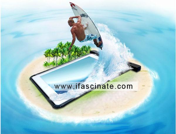 waterproof bag for ipad/PVC waterproof case/ipad 1,2,3 case