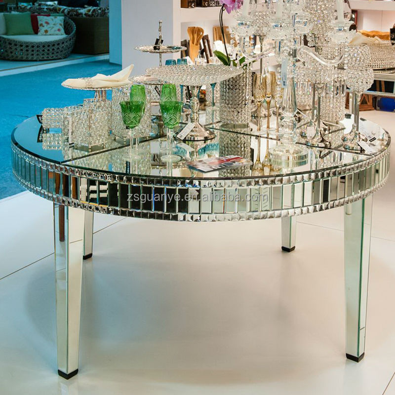 Large Round Mirror Dining Table View Modern Mirror Dining Tables