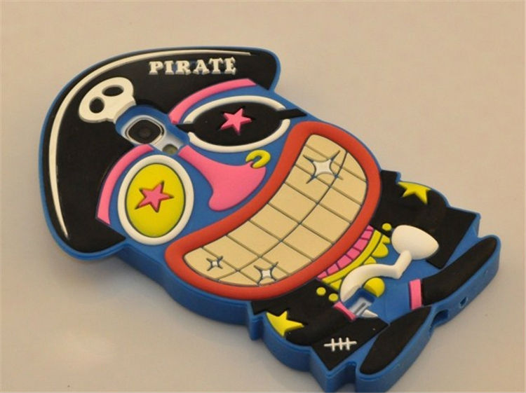 Designer pirate silicone bumper funny case for samsung galaxy note3