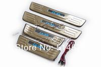 пороги порог отличные из нержавеющей стали / потертости пластины для hyundai ix35 2010-на, с светодиодный свет, 4 шт/комплект