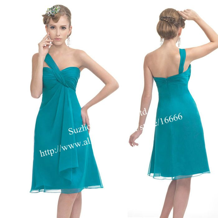 Short Chiffon Bridesmaid Dresses - Qi Dress