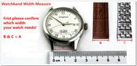 женщин смотреть полос 14 16 18 20 мм кожа развертывания сплошной ПИН часы ремни ремни 2046