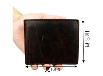 Люксовый бренд высокое качество старинные модельер 100% натуральная Crazy Horse натуральной кожи мужчин короткий бумажник кошелек мужской с монеты в кармане