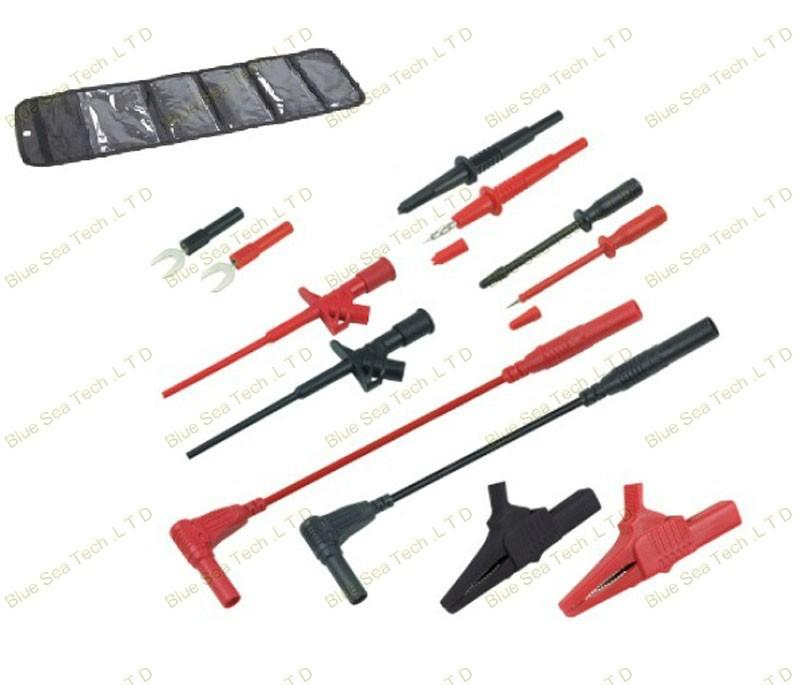 Купить 1 М Автомобильной обслуживание промышленности test tool дети/sets. Пирсинг Клип + тест крюк + крокодил + наконечник зонда 6 в 1 компл. 13AWG