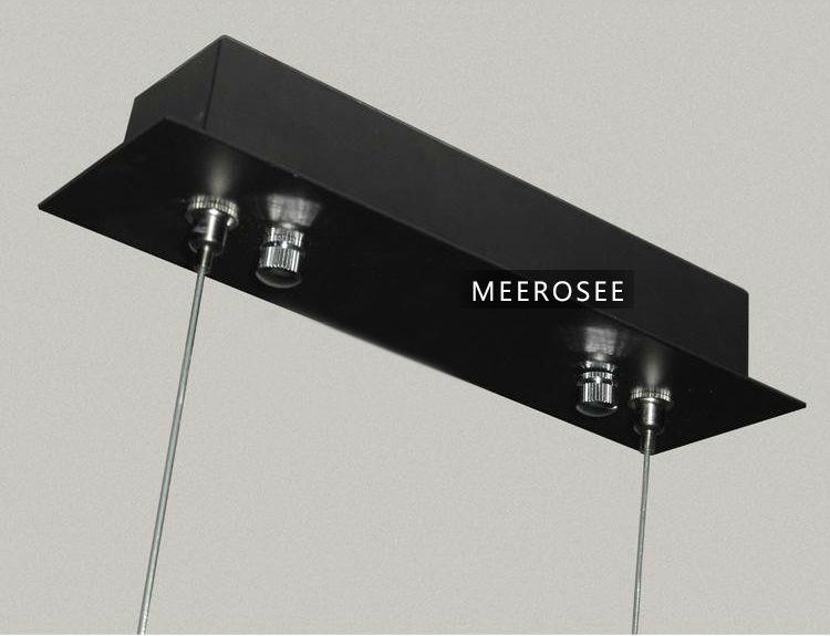 로맨틱 스타일 현대 천장 램프 긴 조명 아이디어 블랙 펜던트 ...