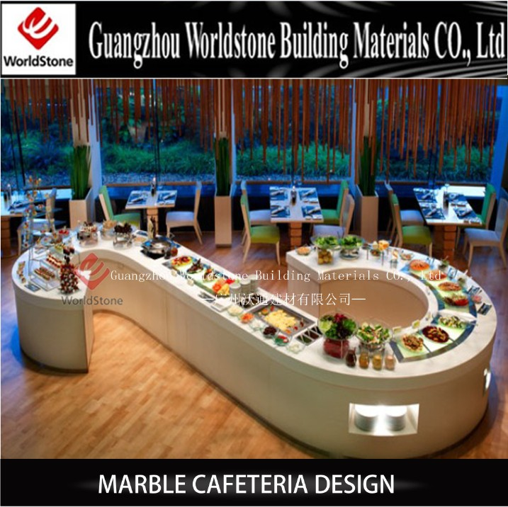 Customized Fast Food Service Counter Design For Restaurant