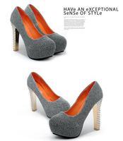 crystal thick with nightclub waterproof  high heel shoes platform pumps rhinestone woman heels with rivet shoes hedgehog