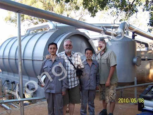 2014 Newest Green Energy tyre scrap waste tyres pyrolysis plant of Yo<em></em>ngle Brand