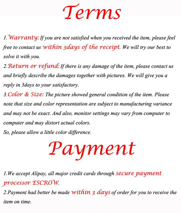Terms & Payment