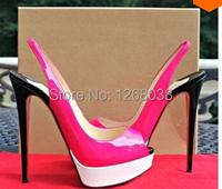Туфли на высоком каблуке colorblock toe slingback
