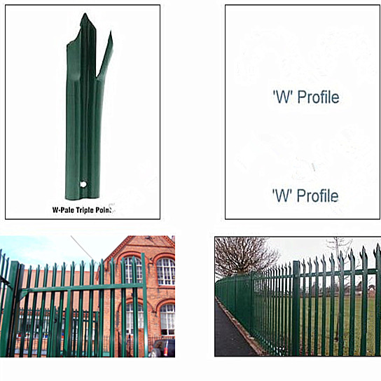 PVC 또는 아연 도금 강철 방어벽 울타리, 전문 공장, CE, SGS, ISO ...