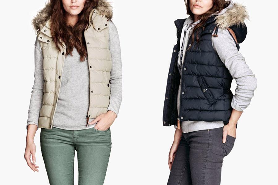 Women Slim Down Cotton Vest Detachable Cap Waistcoat Vest Faux Fur ...