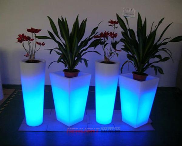 Led mini plant pot led flower pot garden decoration for Plant de pot exterieur